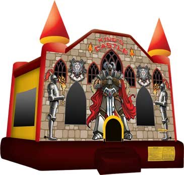 Medieval Castle theme bounce house for birthday parties and celebrations in North Carolina.