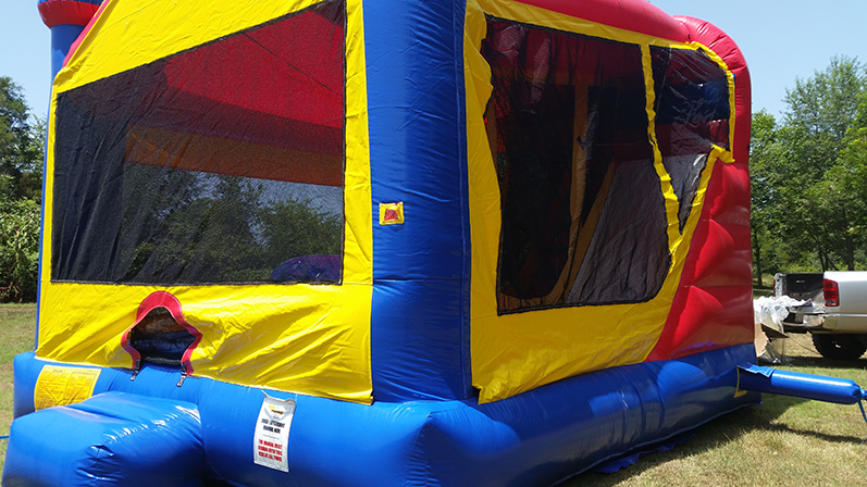 Inflated 3-in-1 combination bounce house