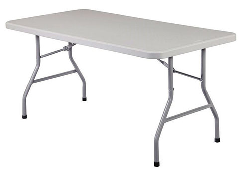 eight foot fold out party table for events