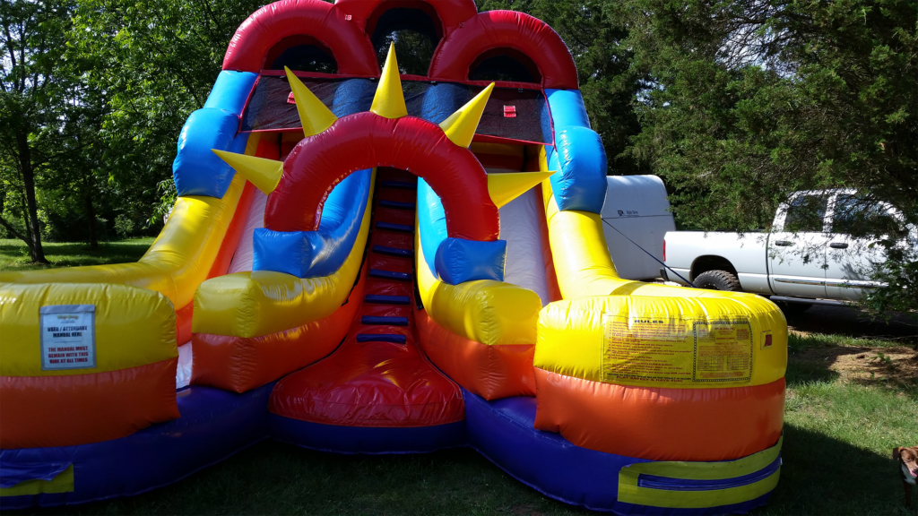 Inflated Junior Double Slide rental unit in Shelby, NC