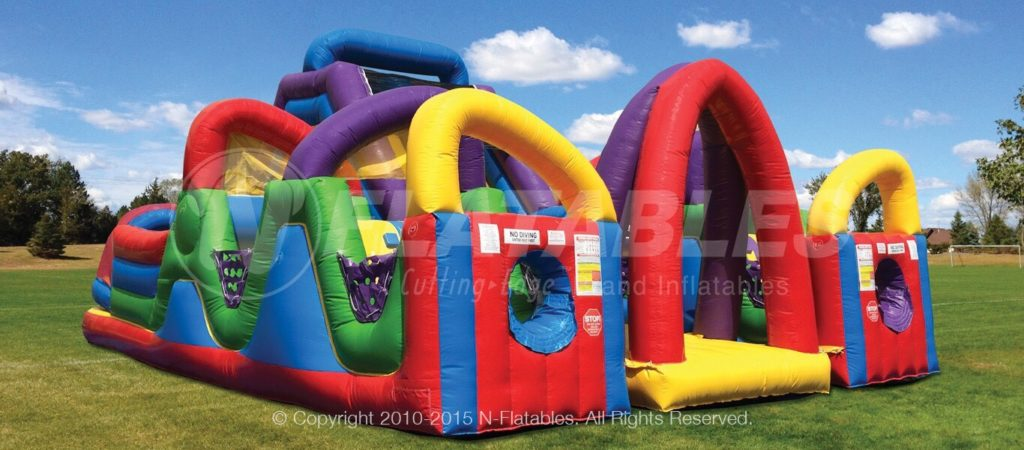 Wacky Chaos Inflatable Obstacle Course
